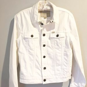 Burberry Brit White Denim Jacket Size M